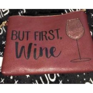 "❤️LAST 1!❤️ NEW Charming ""But First Wine"" Purse"